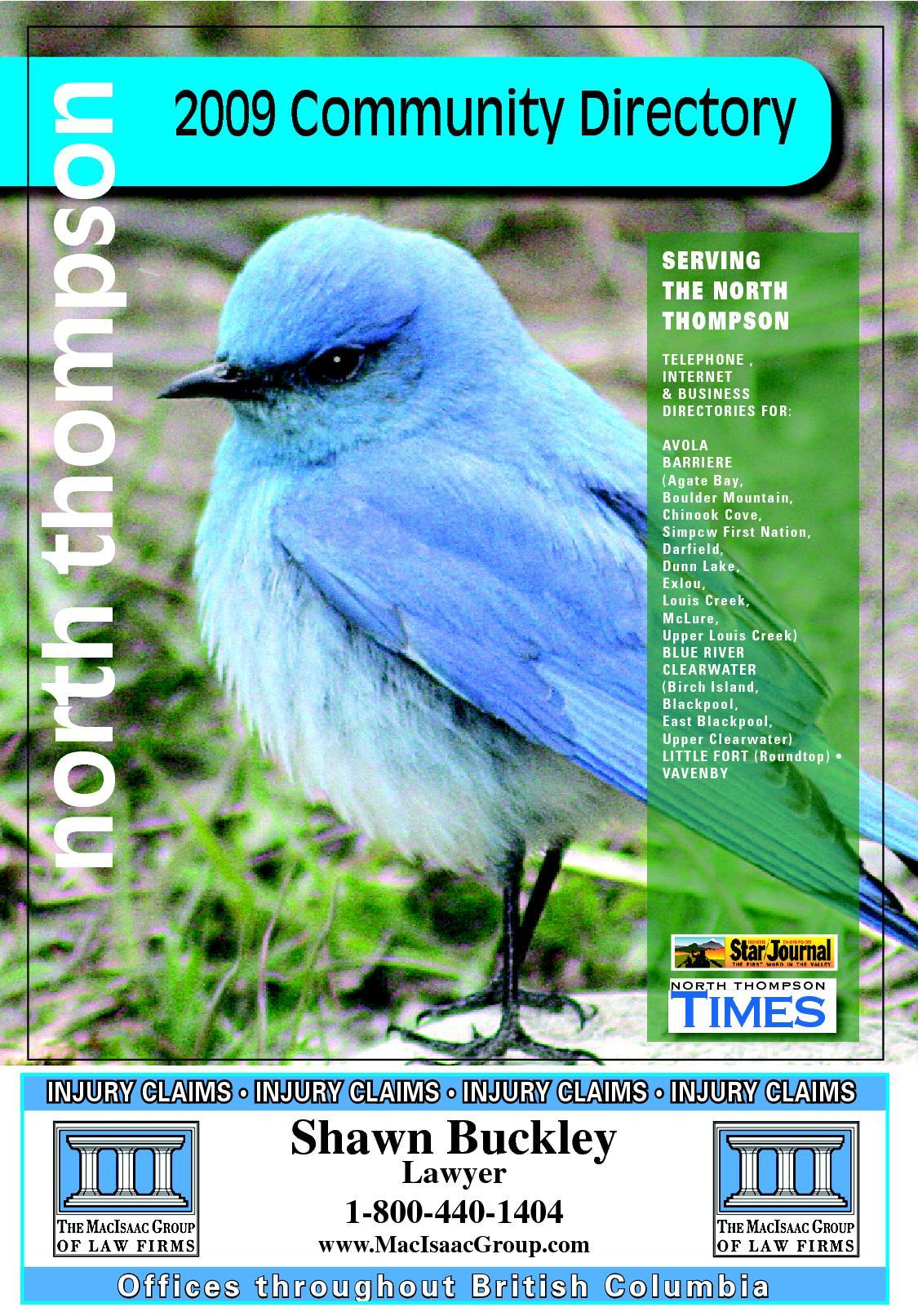 North Thompson Valley Phonebook By Kevin Bryant