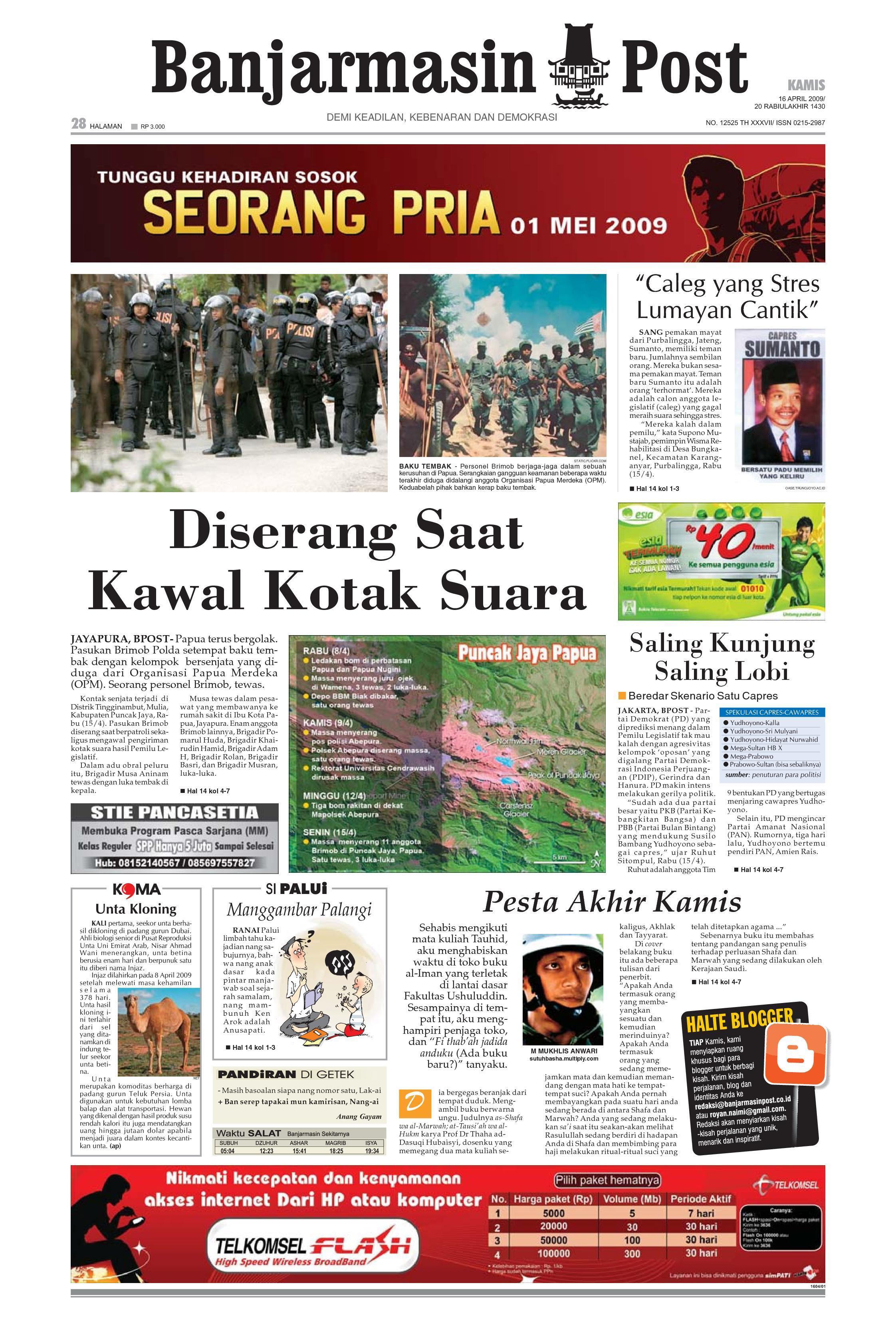 Banjarmasin Post - 16 April 2009 by Banjarmasin Post - issuu 8a5f793f50