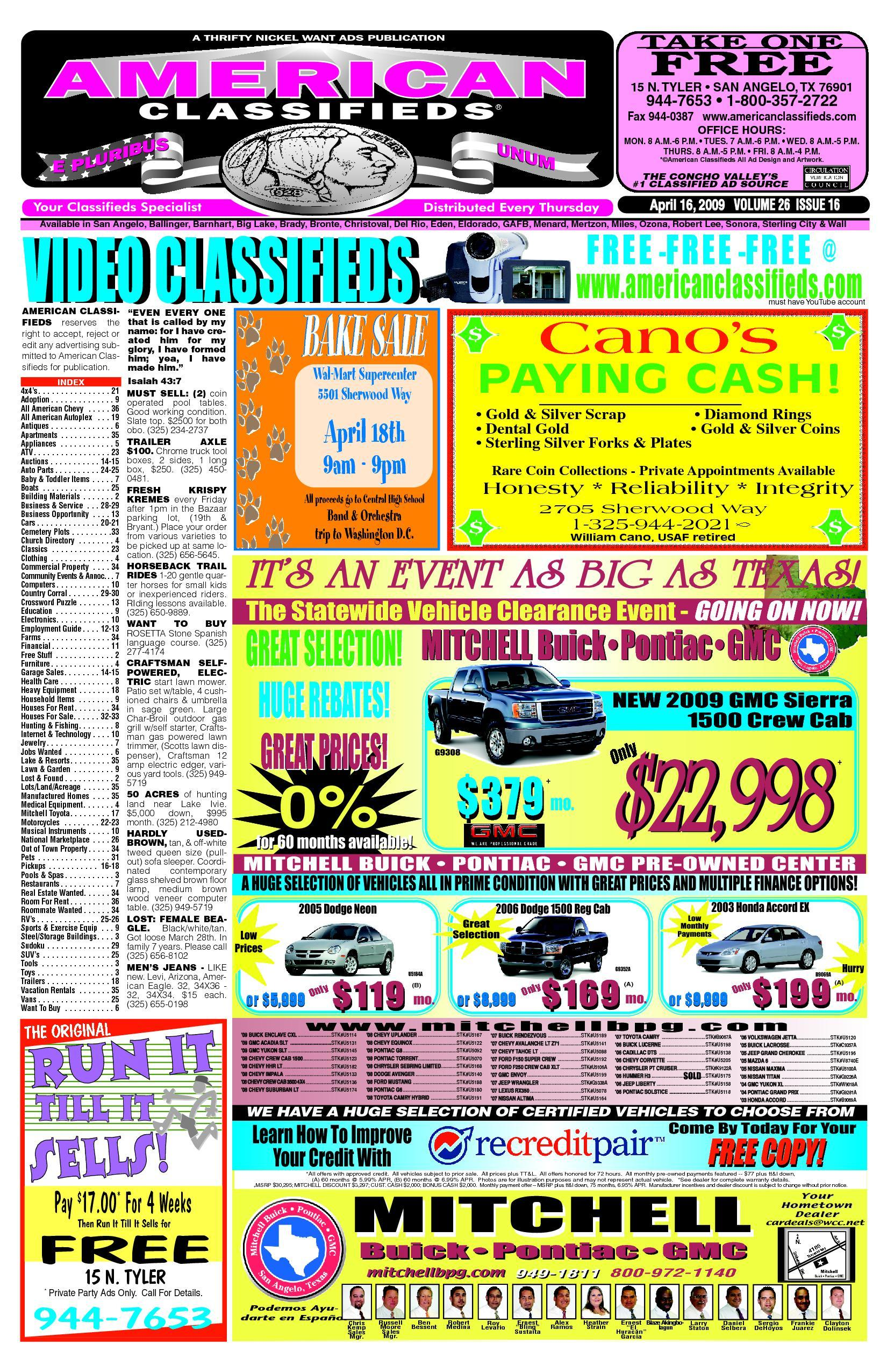 7b6ff12e9f8f San Angelo American Classifieds by San Angelo American Classifieds - issuu