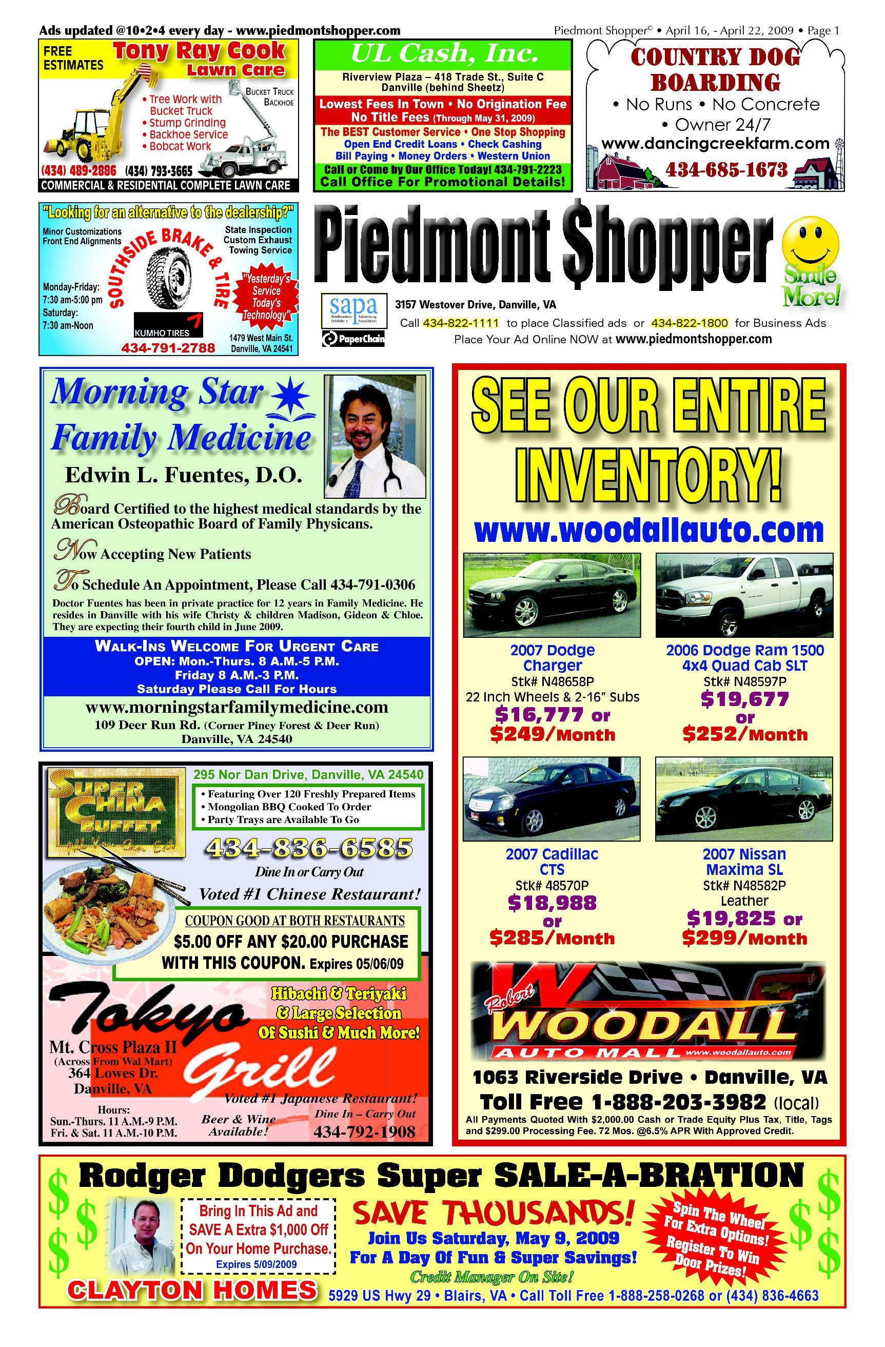 Piedmont Shopper 4.16.09 by ALAN LINGERFELT - issuu 38cdf2ca2dd1a
