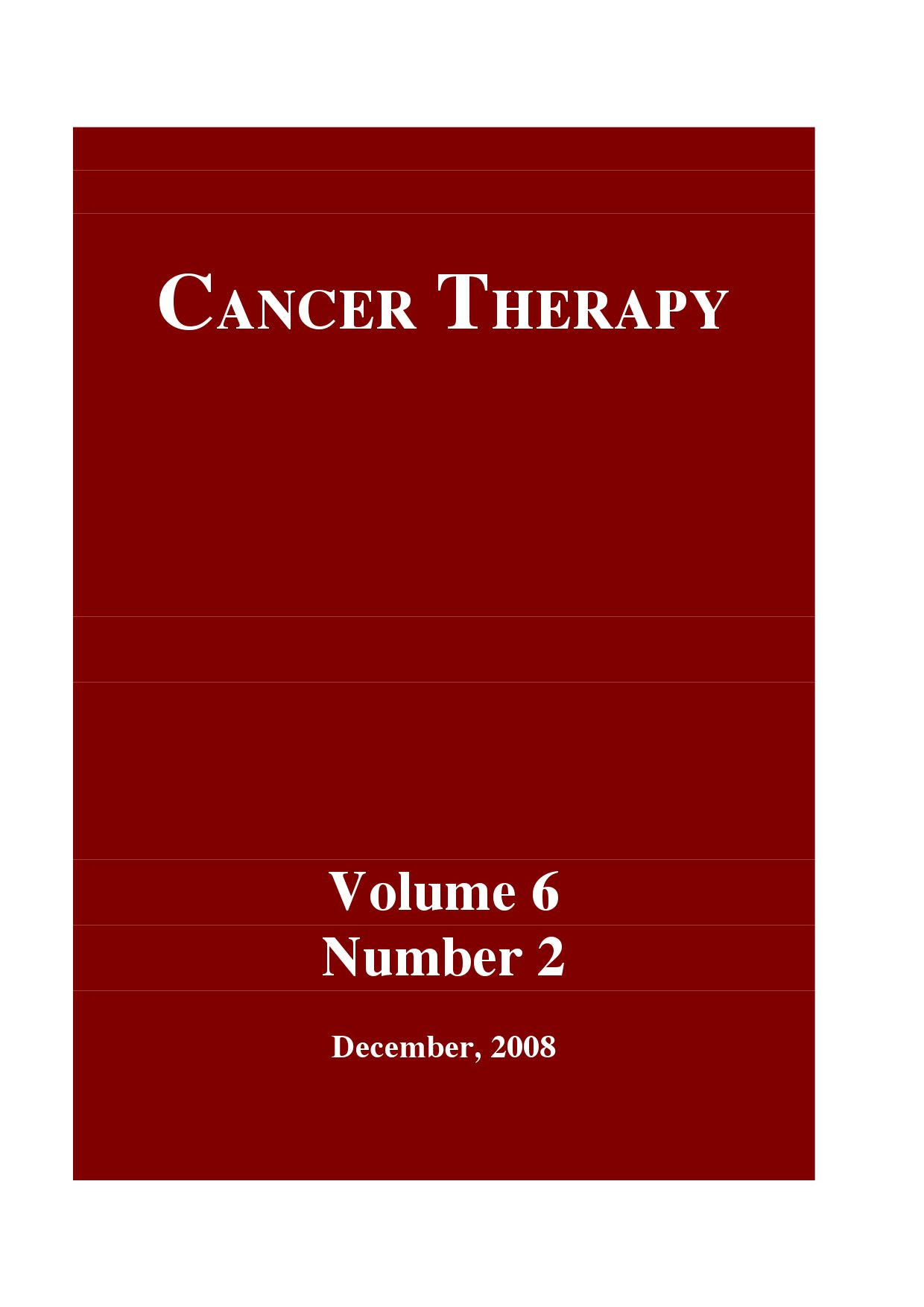 Cancer Therapy Volume 6 Issue B By Issuu Bernardi Burger Polos Bj
