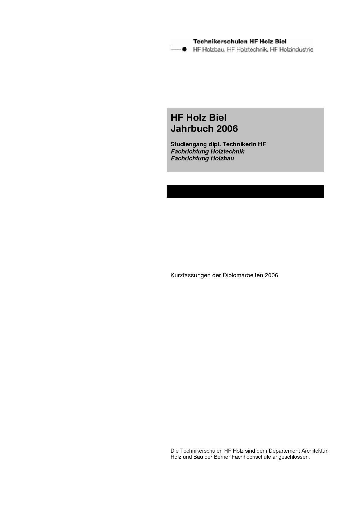 Jahrbuch 2006 by Martin Wiederkehr - issuu