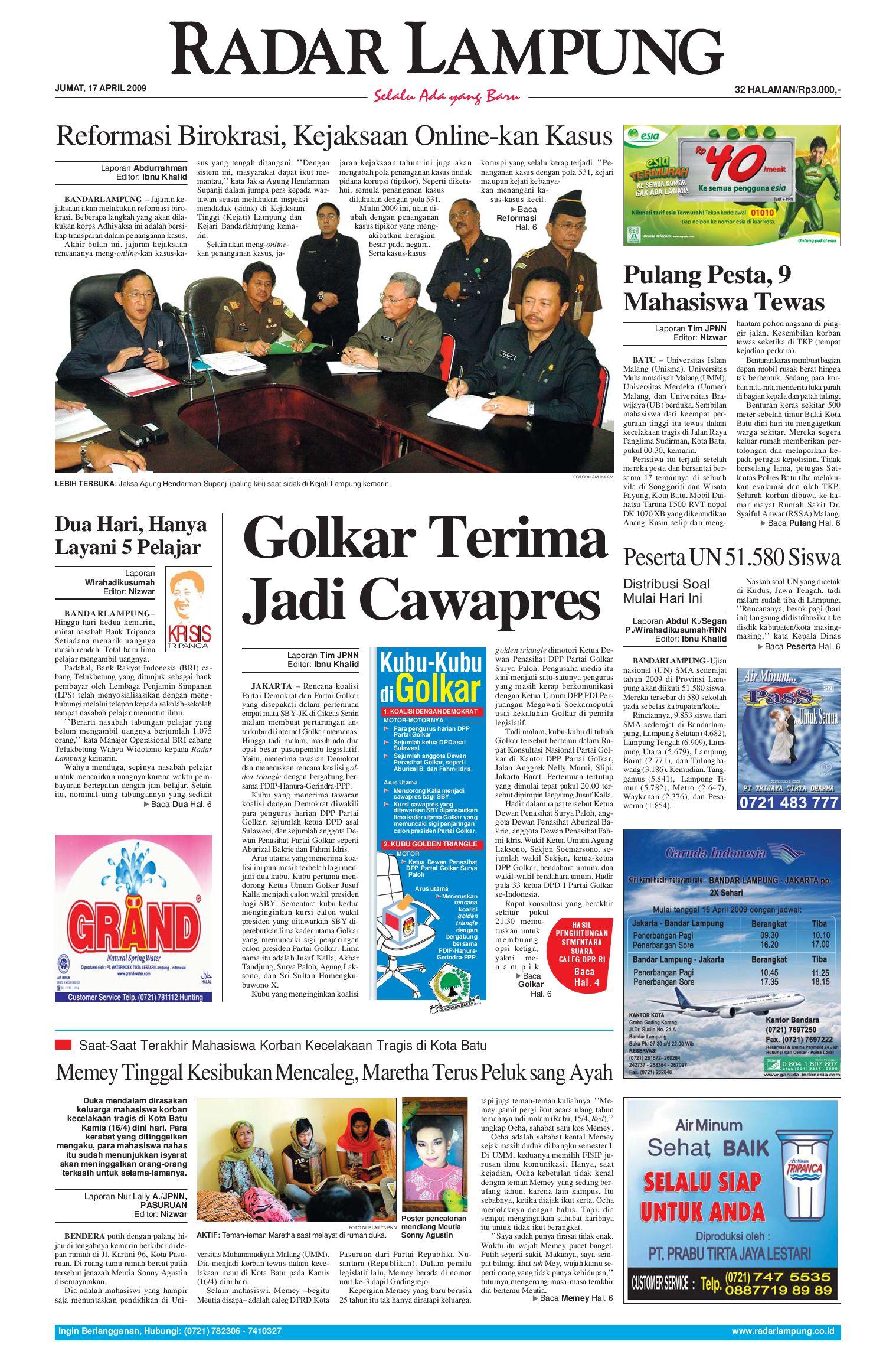 Radar Lampung Jumat 17 April 2009 By Issuu Tcash Vaganza Baselayer Long Pants