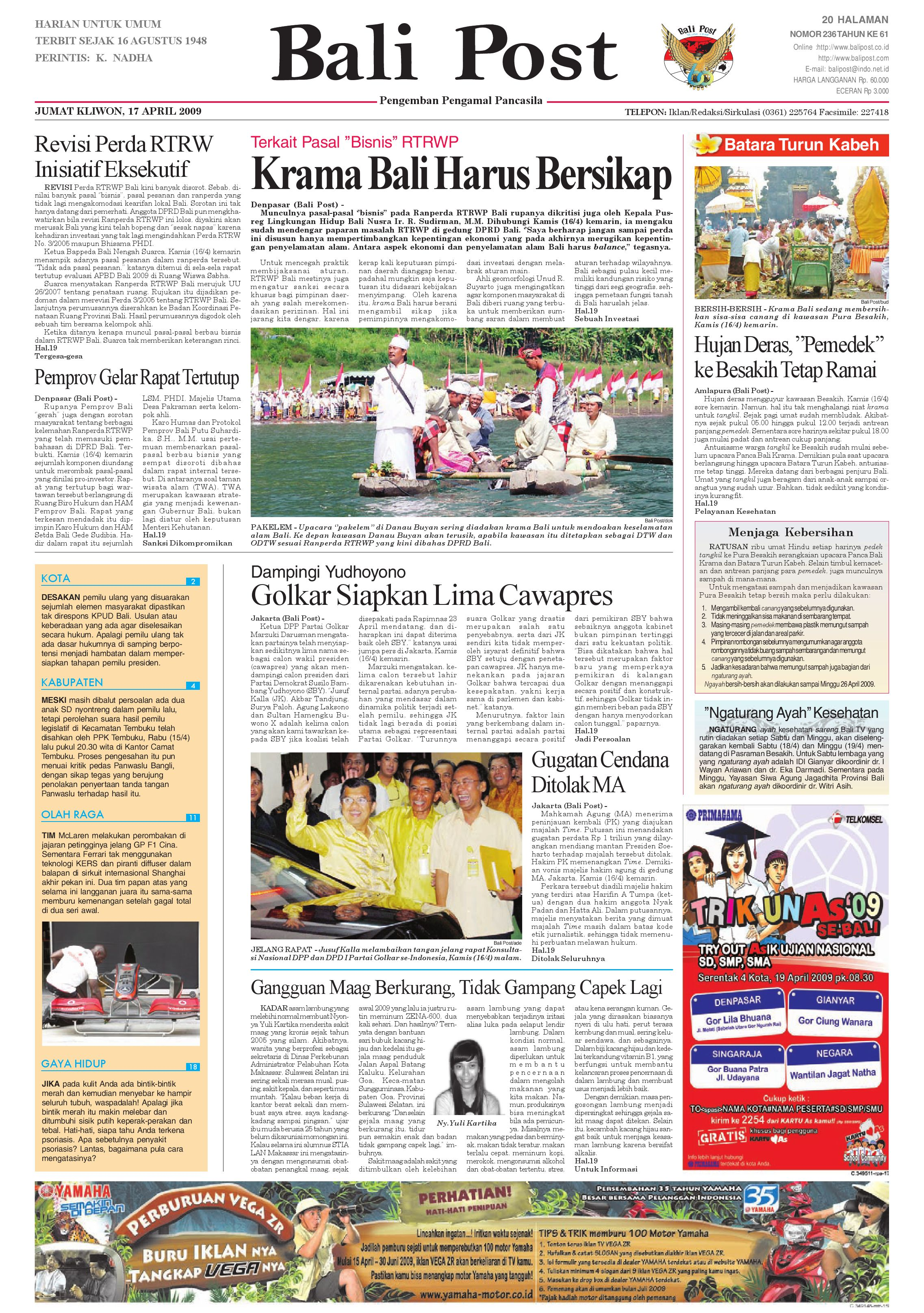 Bali Post Jumat 17 April 2009 By E Paper Kmb Issuu