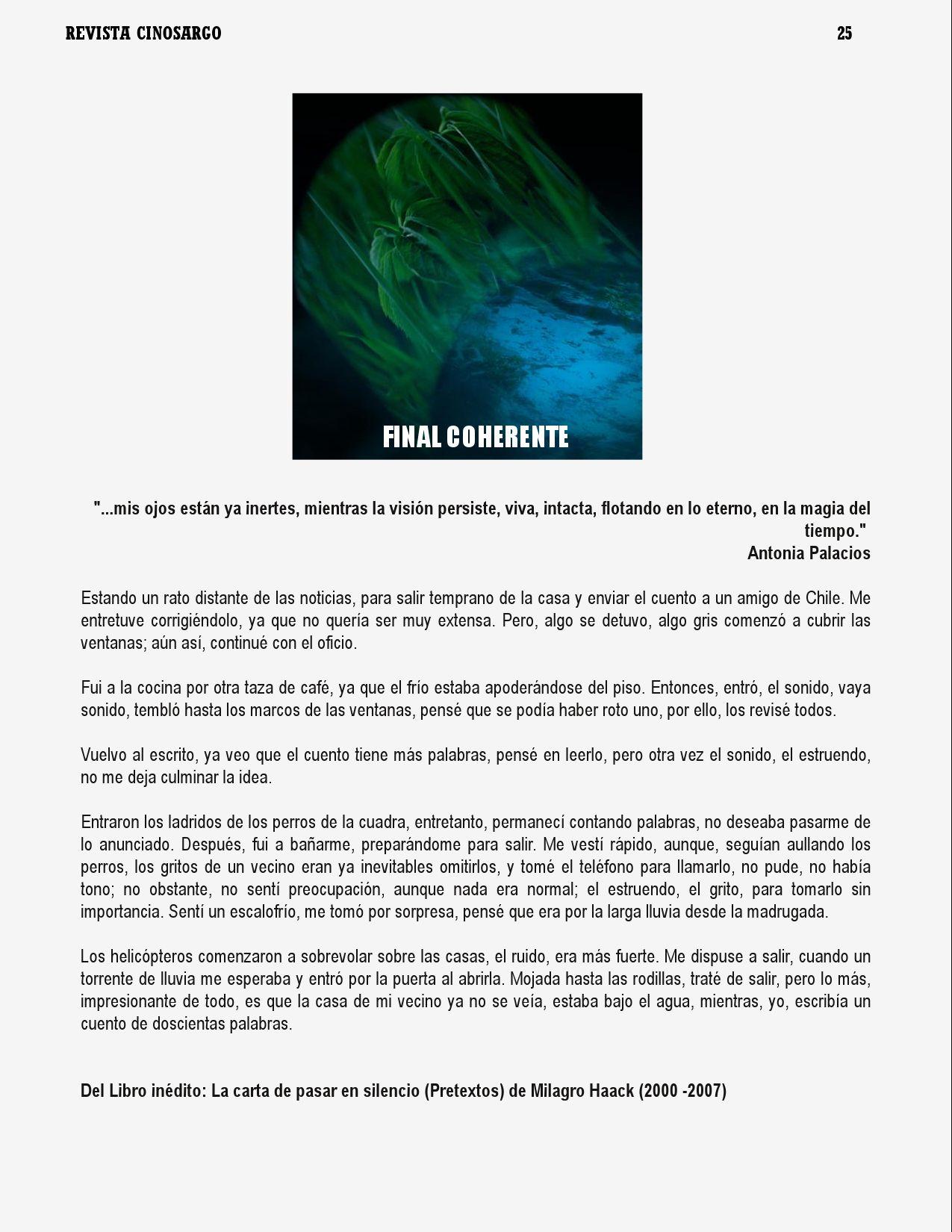 Revista Cinosargo edición X by Daniel rojas pachas - issuu