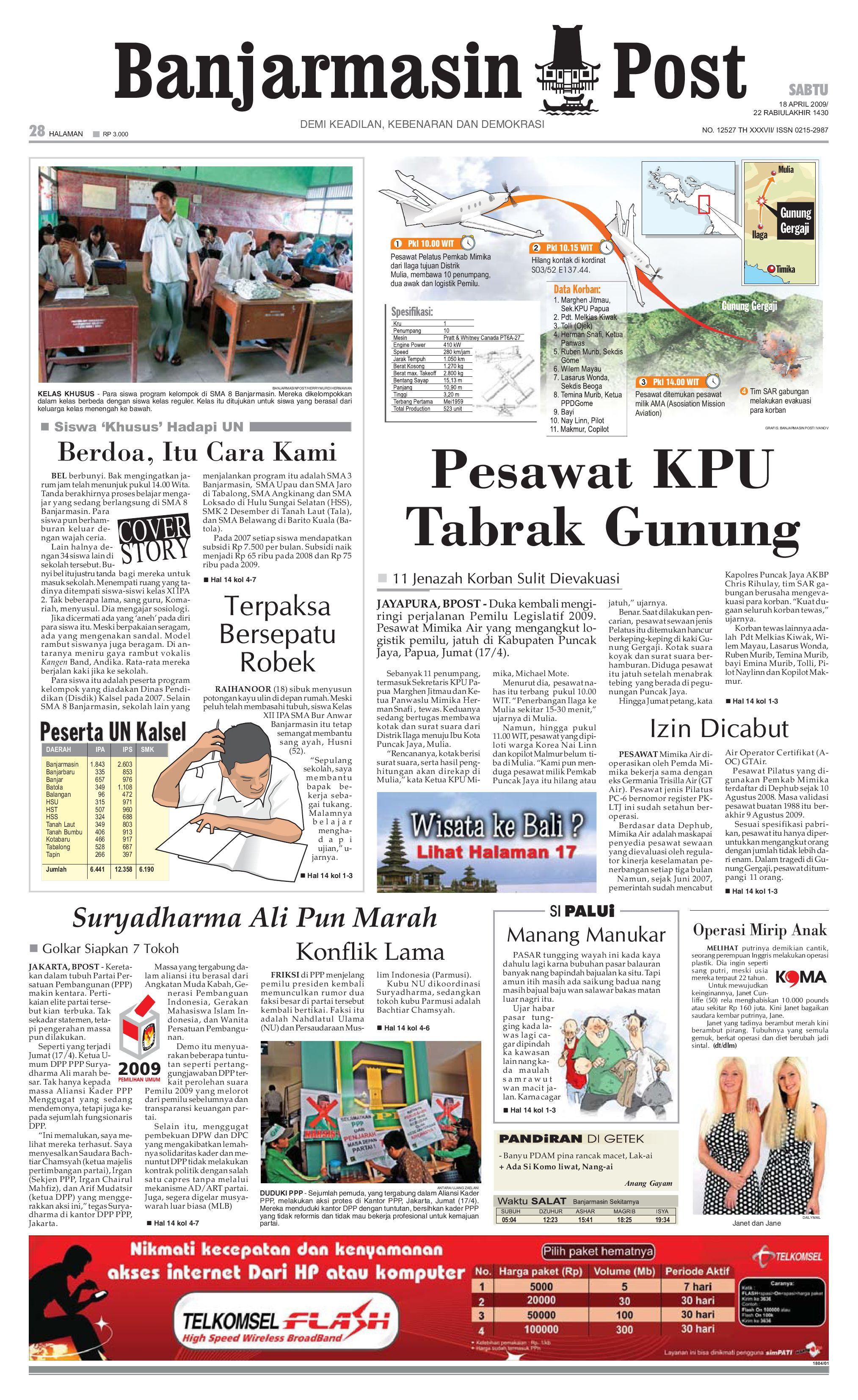 Banjarmasin Post 24 Februari 2009 By Issuu Tcash Vaganza 17 Samsung Adaptor Fast Charging Kualitas Original Putih 18 April