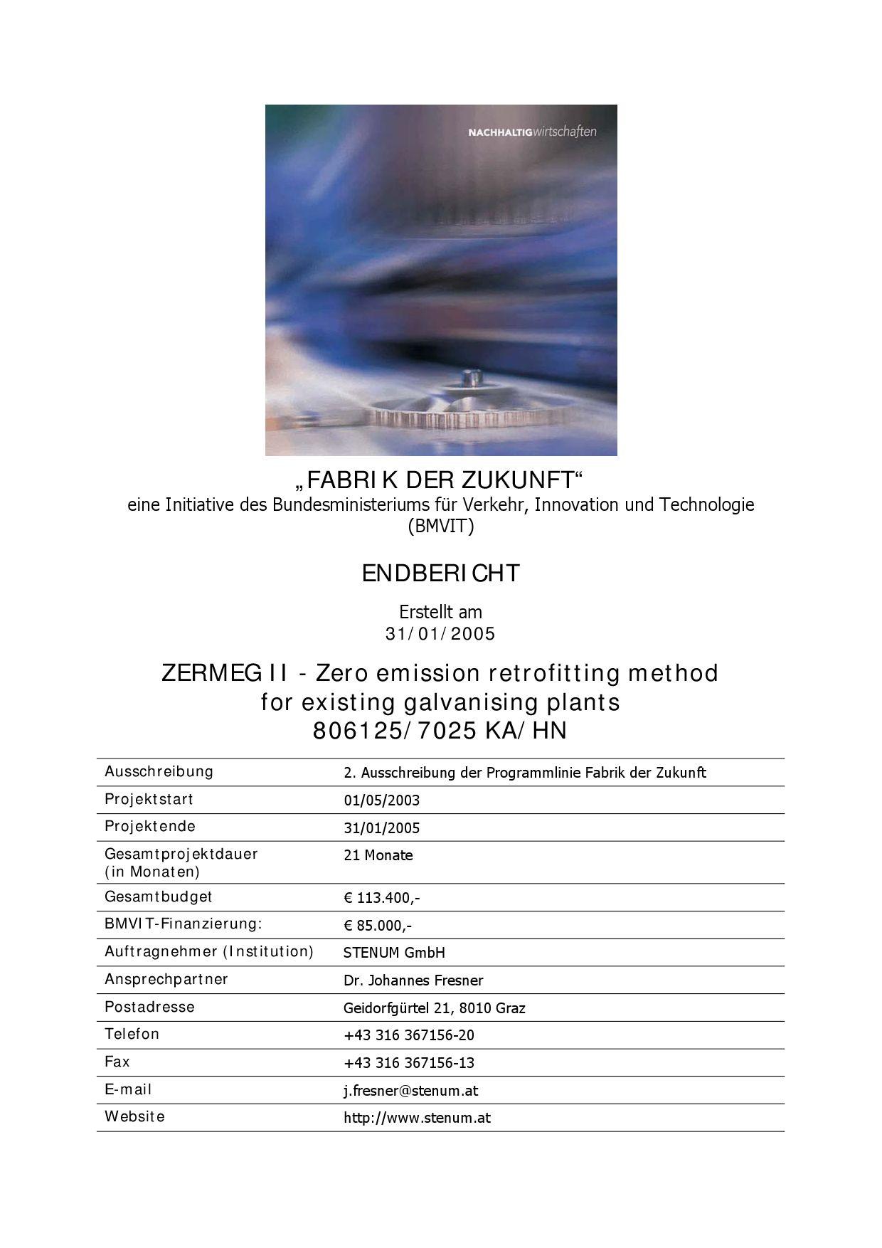 ZERMEG II - Zero emission retrofitting method for existing ...