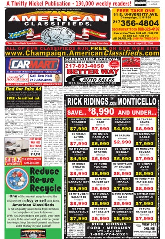 American classifieds champaign 04 23 09 by american classifieds issuu page 1 fandeluxe Image collections