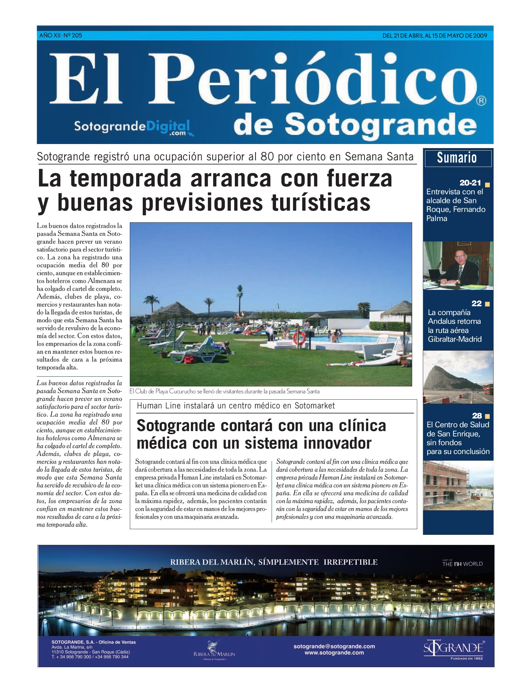 El Periódico de Sotogrande 205 by HCP GROUP SOTOGRANDE - issuu