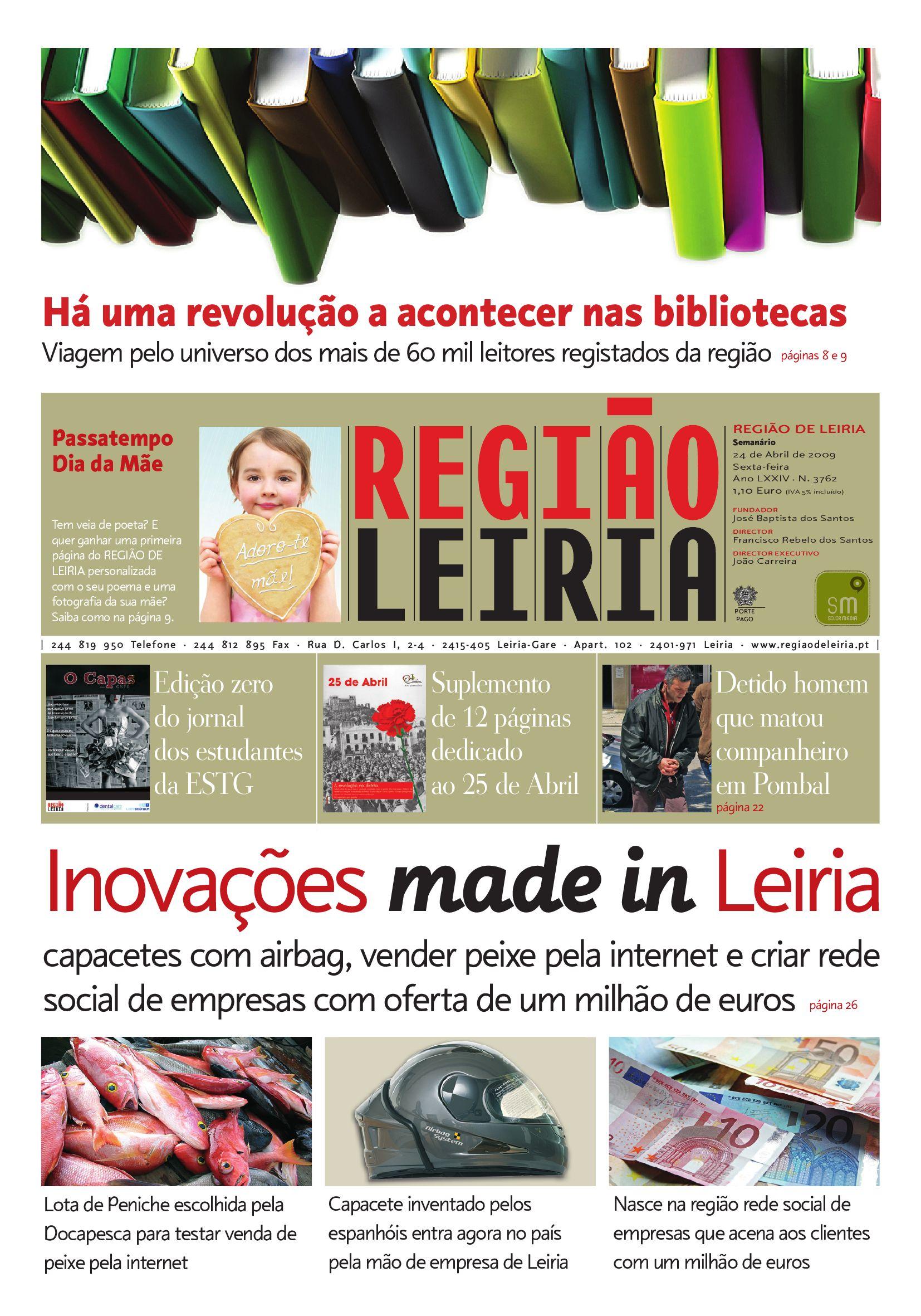 Edição 3762 24 Abril 2009 by Região de Leiria Jornal - issuu 744370156a
