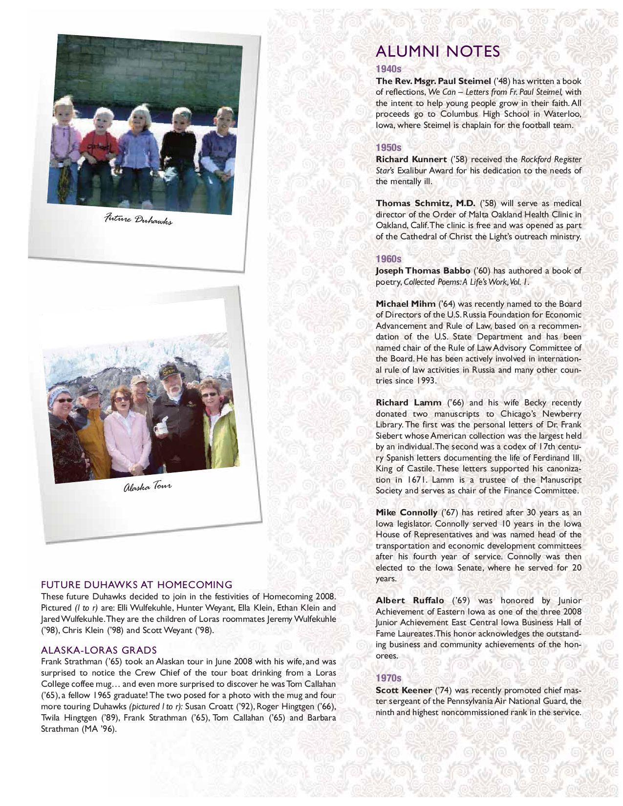 Loras College Magazine - Winter 2009 by Loras College - issuu