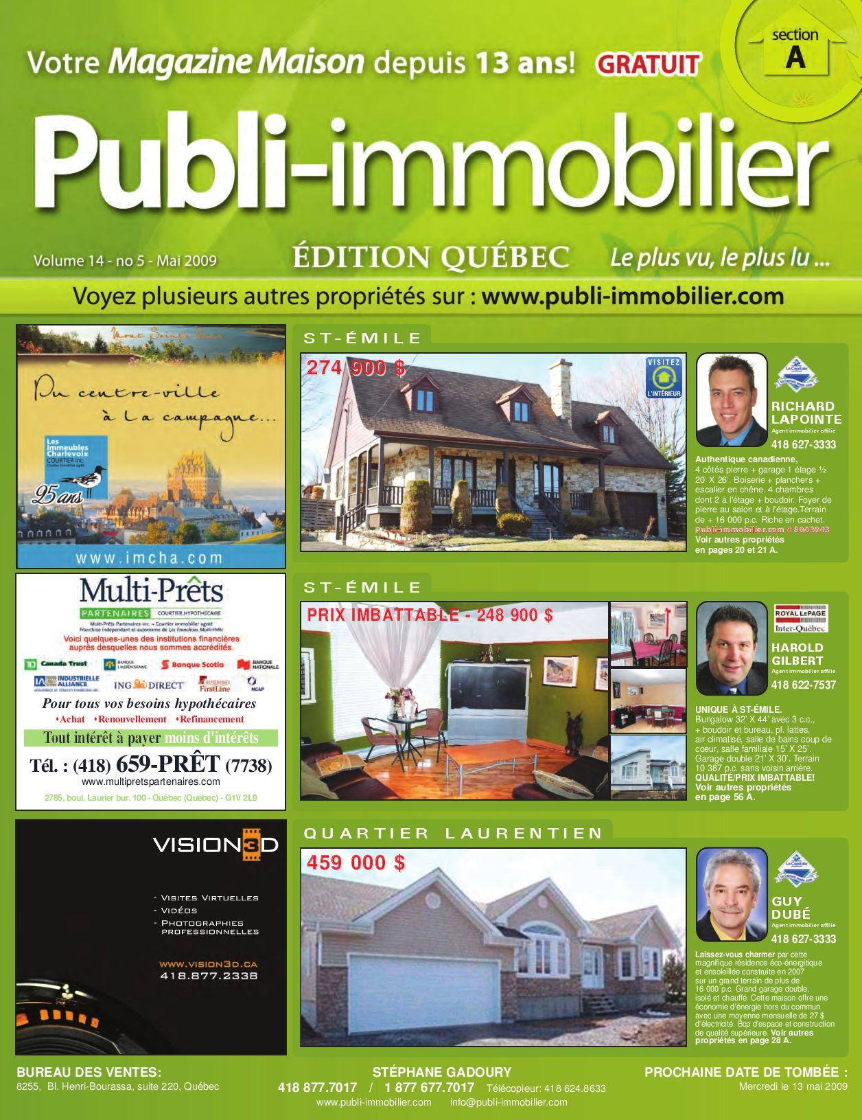 Publi immobilier volume 14 no 5 mai 2009 by lepubli for 20 volume salon gilbert