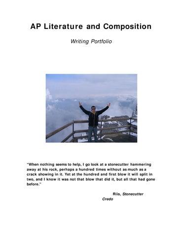 AP Literature And Composition Writing Portfolio By Joseph
