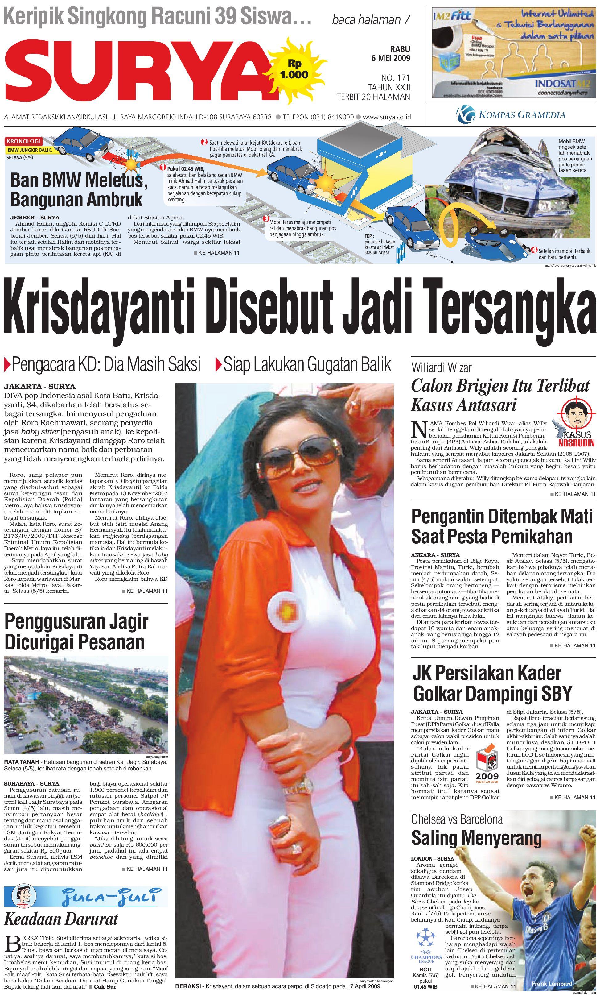 Surya Edisi Cetak 06 Mei 2009 By Harian Issuu Rkb Tegal Madu Mongso
