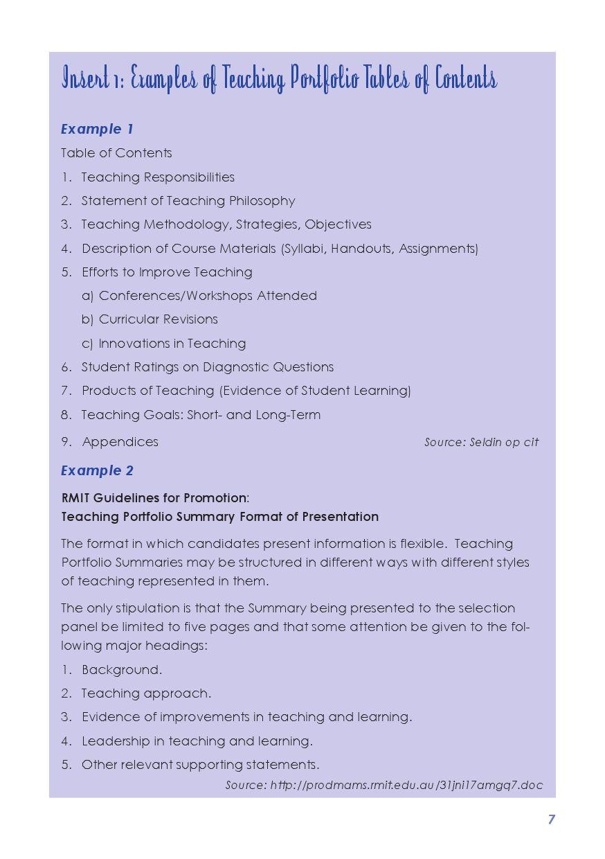 Preparing and Presenting a Teaching Portfolio by NTEU - issuu