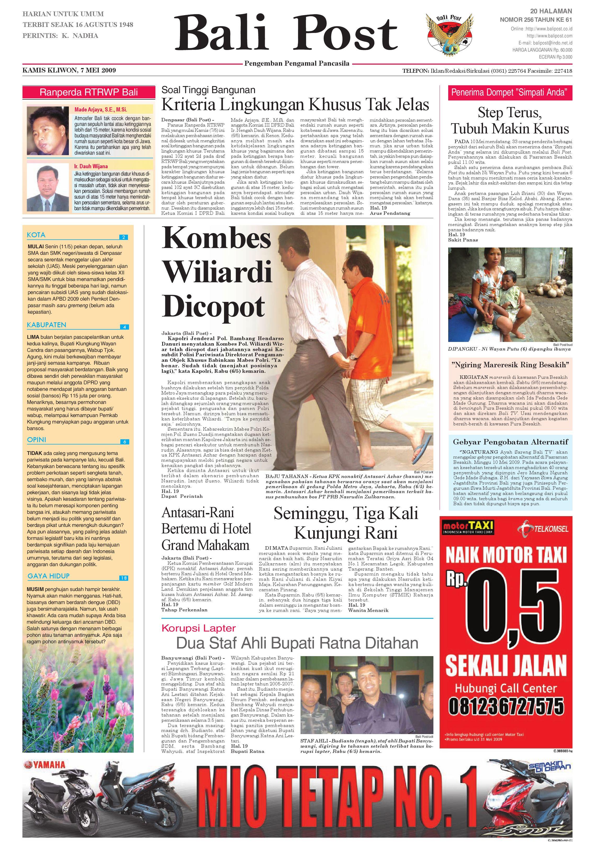 Bali Post Selasa 12 Mei 2009 By E Paper Kmb Issuu Produk Ukm Bumn Brasso Metal Polish 200 Ml Kamis 7