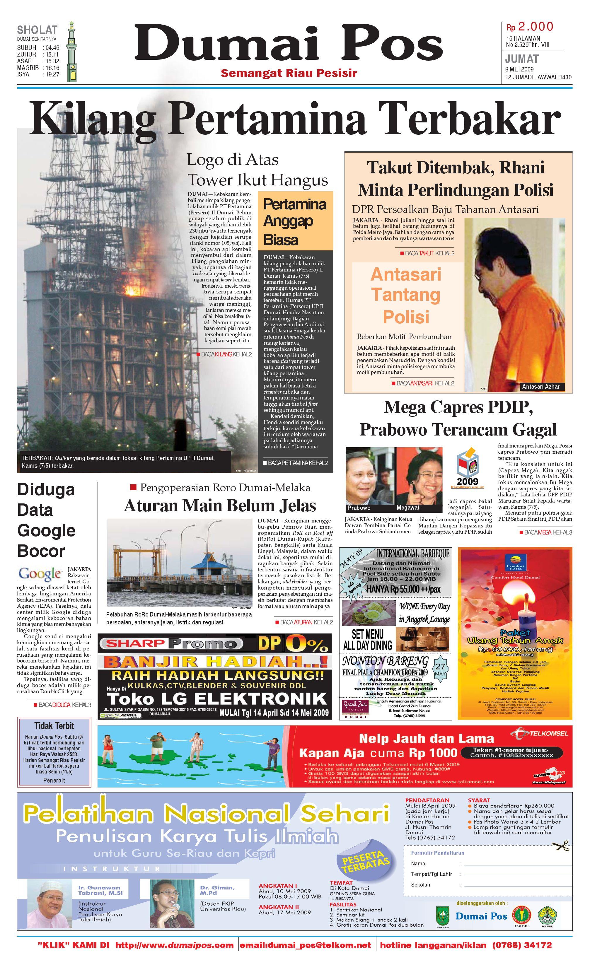 Dumai Pos 8 Mei 2009 By Issuu Produk Ukm Bumn Tenun Pagatan Kemeja Pria Biru Kapal