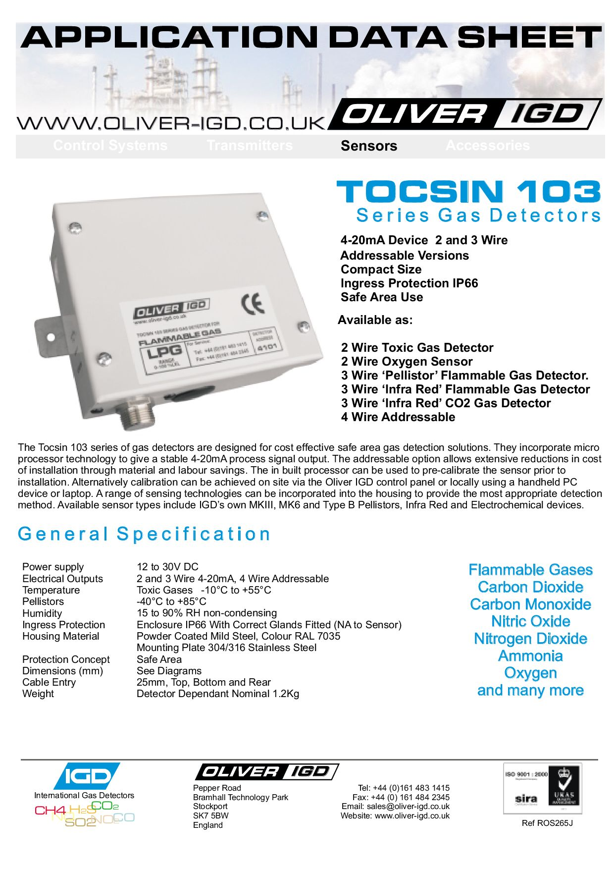 Safe Area Gas Detectors By Andrew Collier Issuu 4 20ma Wiring