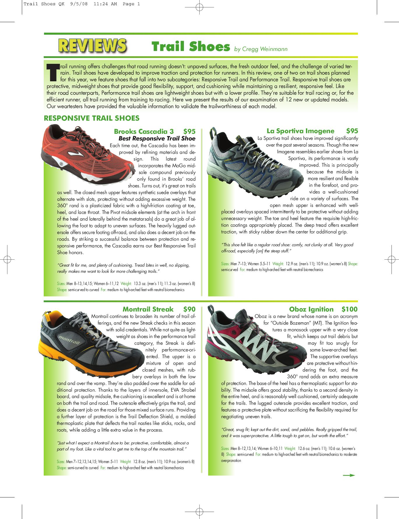 Trail Shoes by Fortius Media Group LLC