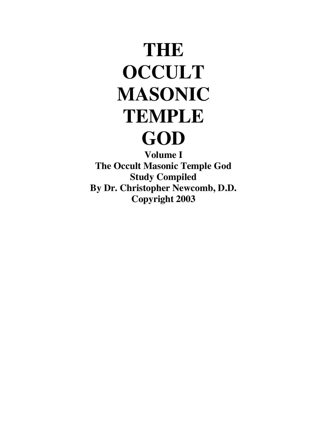 The Masonic Temple God By Jeremy Nelson Issuu