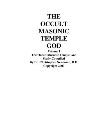 The Masonic Temple God by Jeremy Nelson - issuu 06d18d0aa074