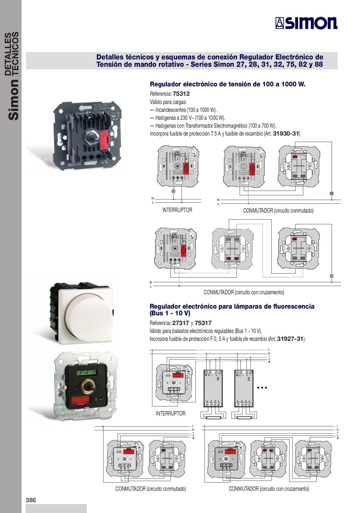 Detalles tecnicos simon by mariano sanz issuu - Interruptores simon 75 ...