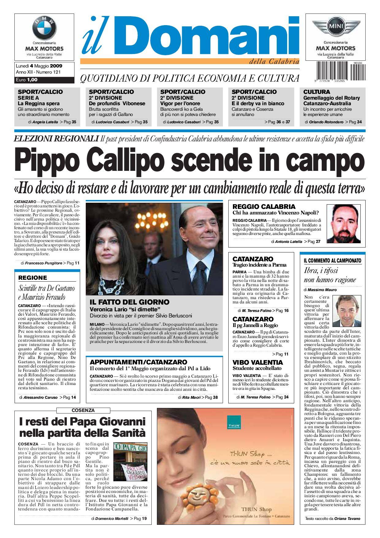 il Domani by T P Editori il Domani - issuu 59aaacd0e95