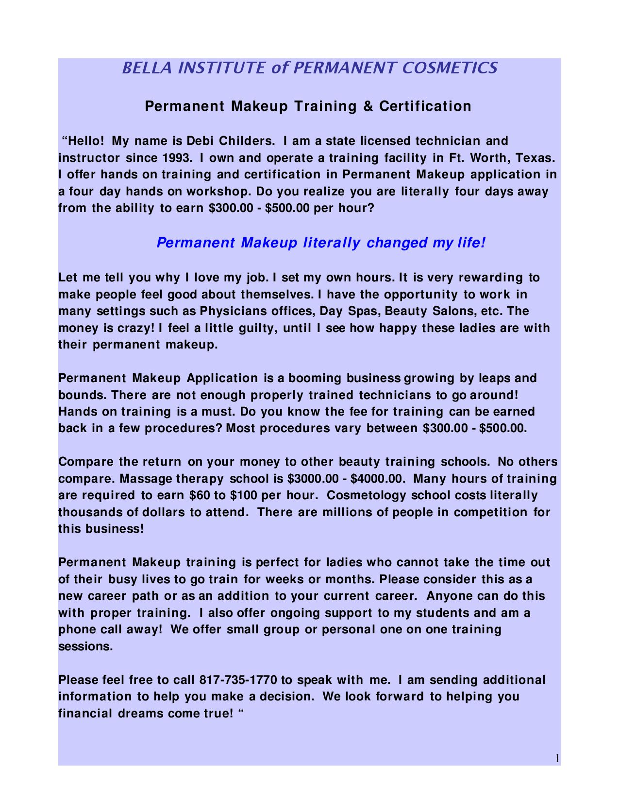 Permanent Makeup Training Certification By Debi Childers Issuu