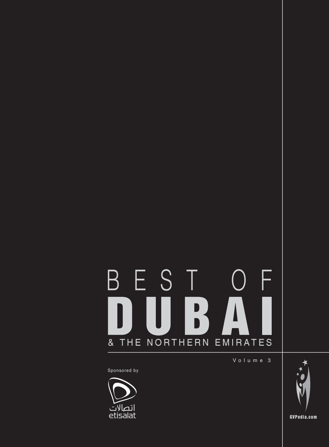 BEST OF DUBAI - Volume 3 by Sven Boermeester - issuu