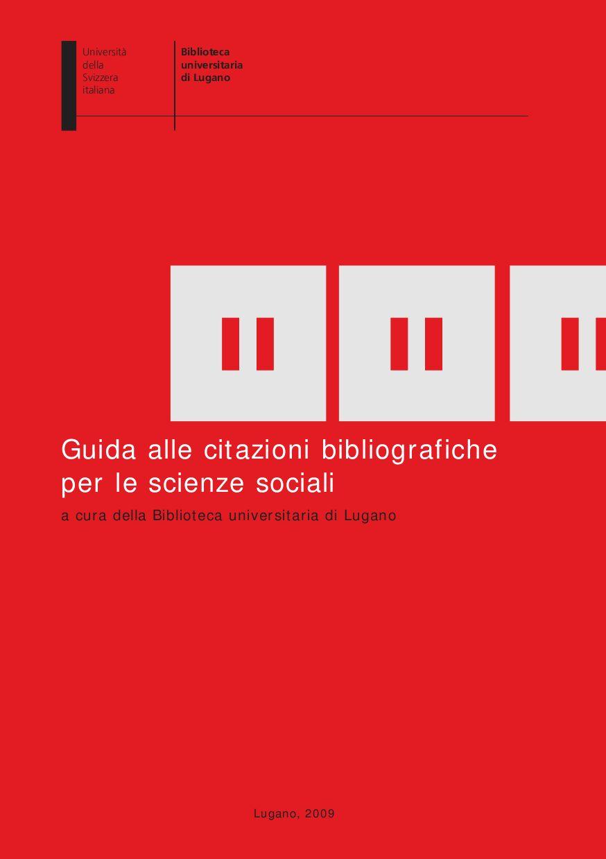 Guida Alle Citazioni Bibliograficheper Le Scienze Sociali By