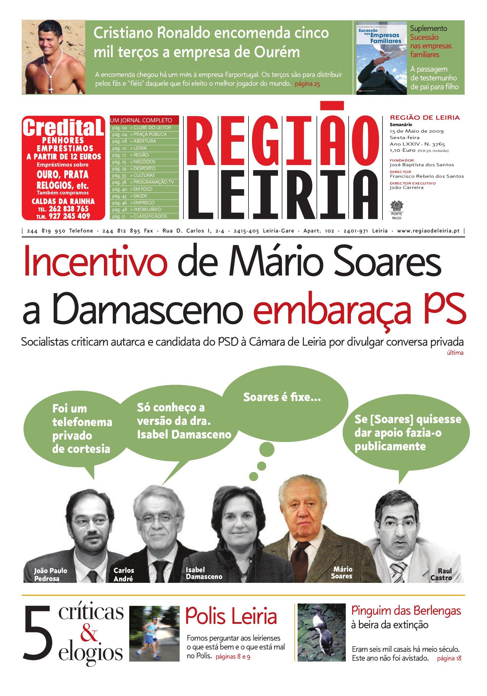 d40a53e070 Edição 3765 15 de Maio de 2009 by Região de Leiria Jornal - issuu