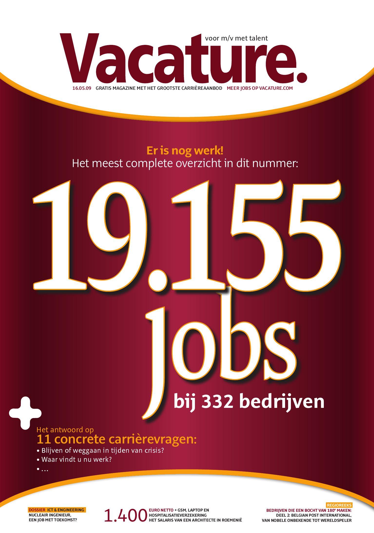2009 05 16 - Het meest complete overzicht in dit nummer 19.155 jobs bij 332  bedrijven by Jobs   Careers CV - issuu 39bf757d1b3