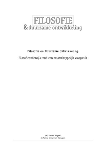 Filosofie en duurzame ontwikkeling by Alois Clemens - issuu