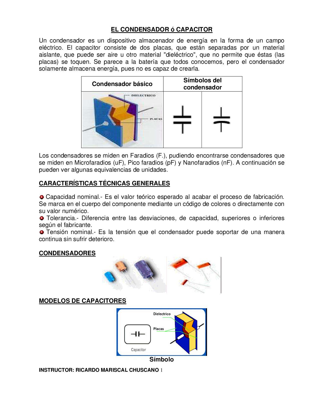 Condensador By Ricardo Mariscal Issuu