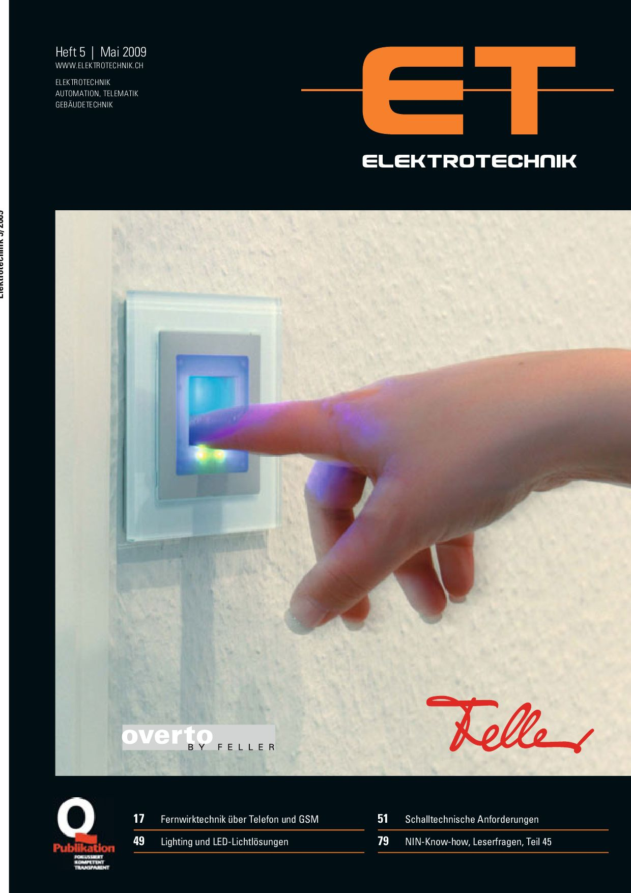 Elektrotechnik 2009/05 by Daniel Gugger - issuu
