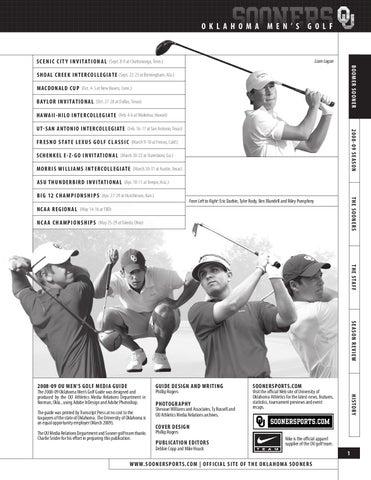 a2dc0a0c 2009 OU Men's Golf Guide by OU Athletics - issuu