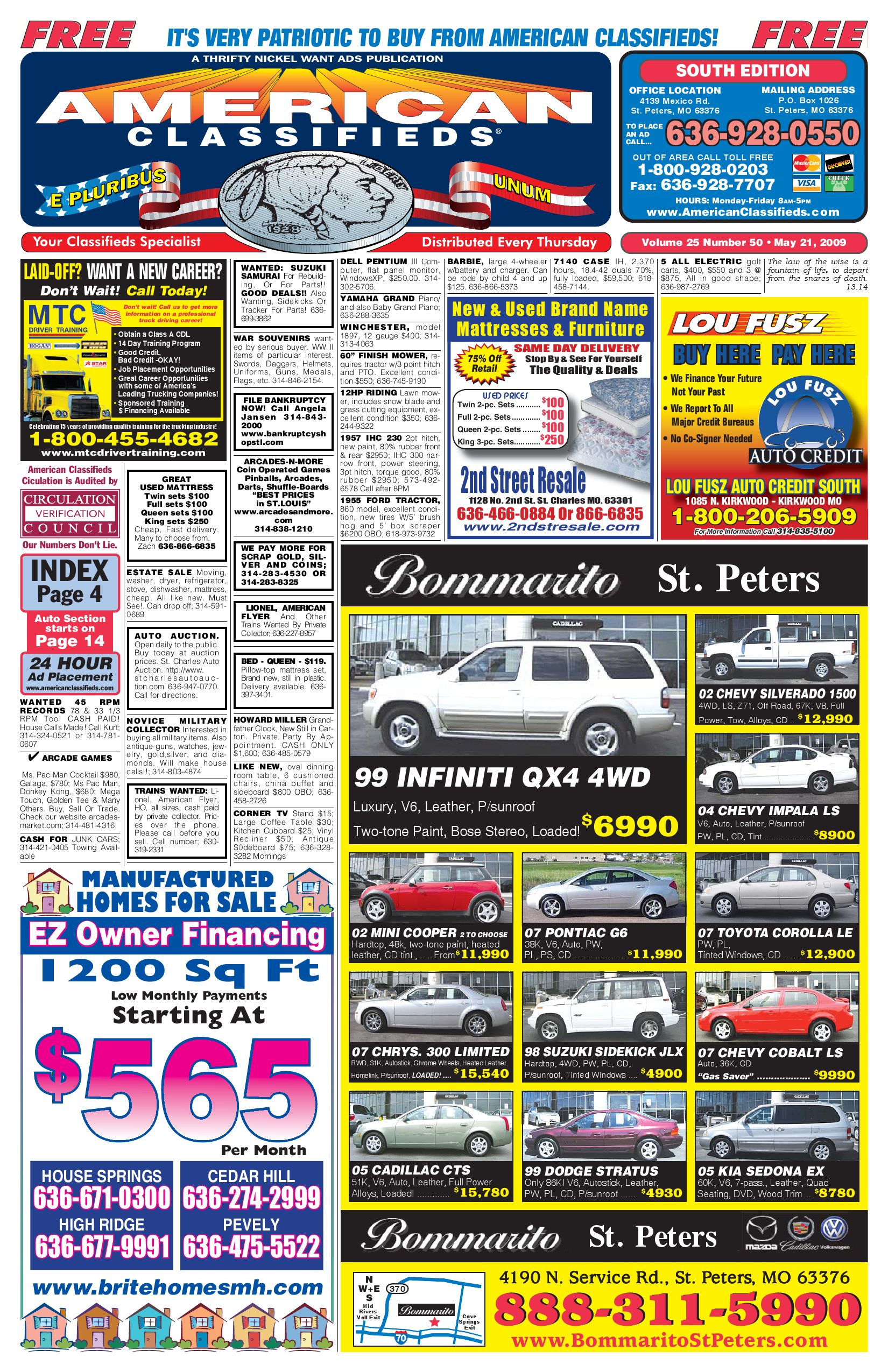 23094586c28d4 American Classifieds - St. Louis - 05-21-09 by Thrifty Nickel Want ...