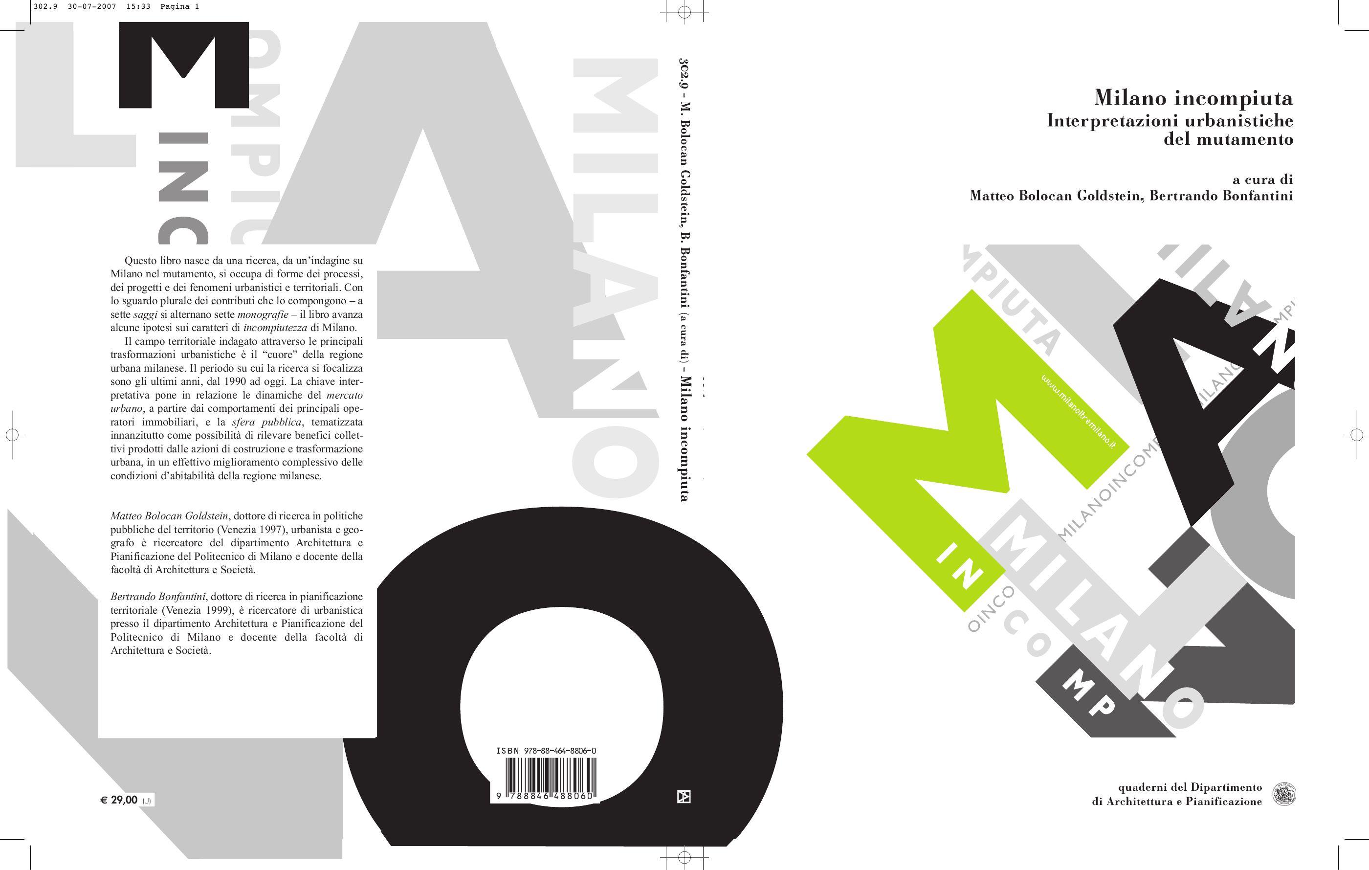 Milano in piuta Interpretazioni urbanistiche del mutamento by laboratorio rapu issuu