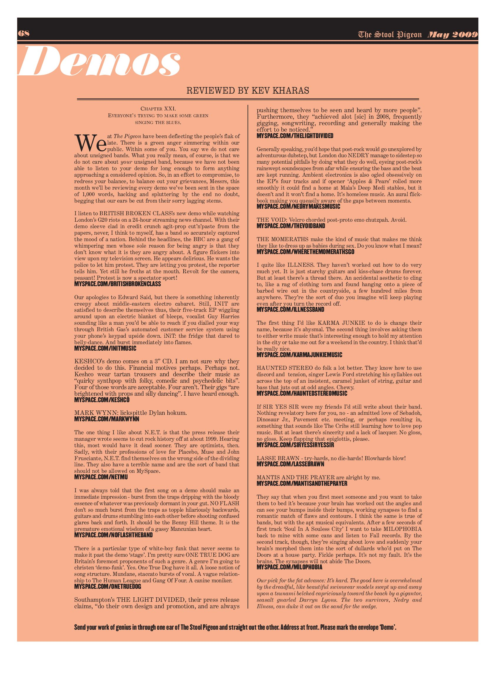 The Stool Pigeon Music Newspaper Issue 021