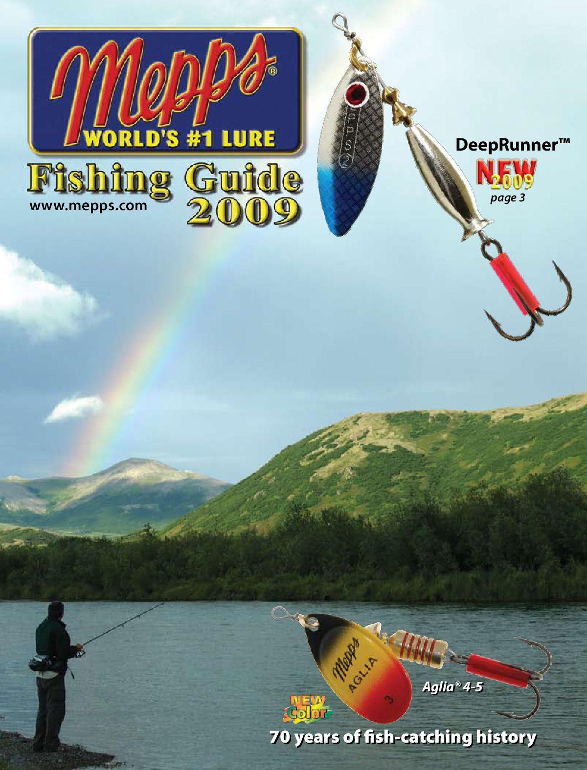 1//4-Ounce Rainbow Scale Mepps Aglia Long Plain Treble Fishing Lure