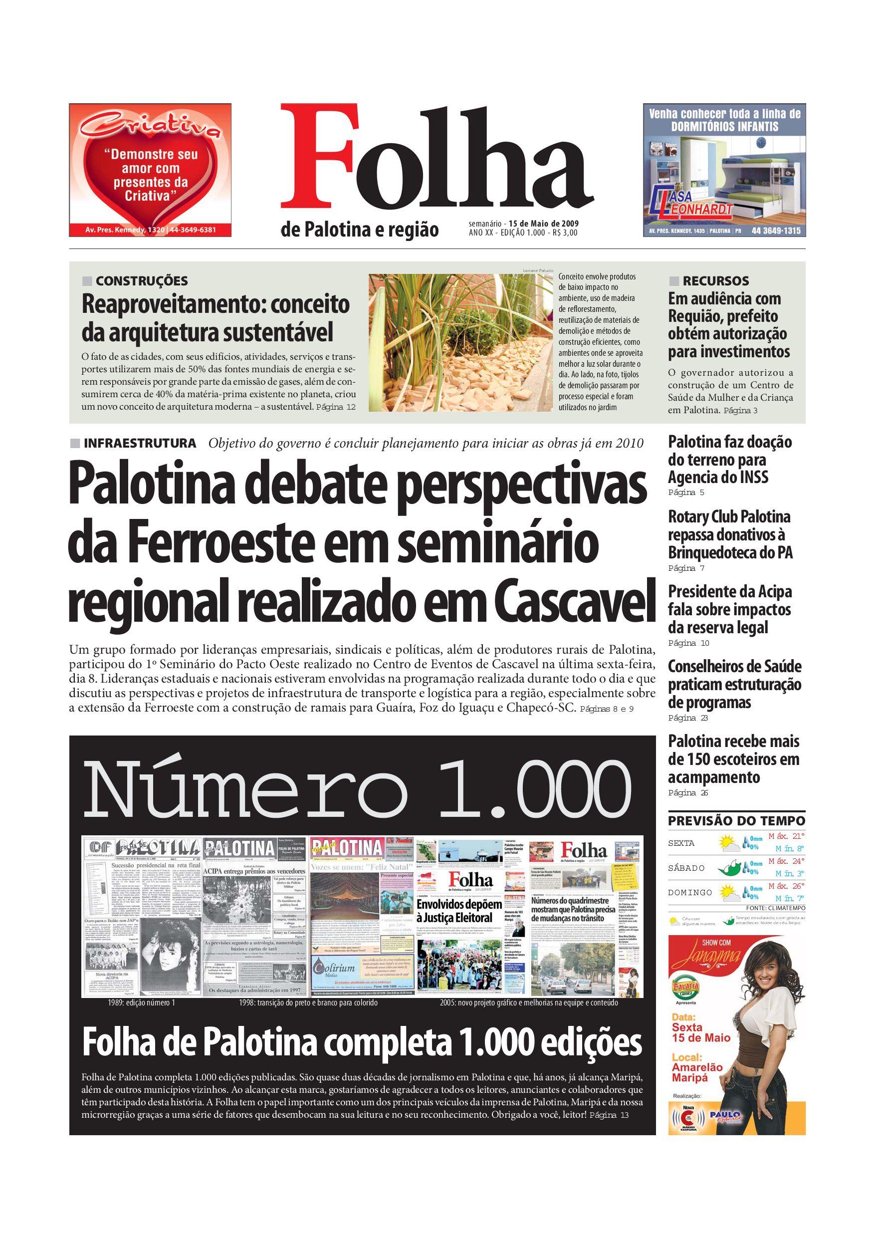 469081b1ab Jornal Folha de Palotina 15 05 2009 by Sinuê Giacomini - issuu