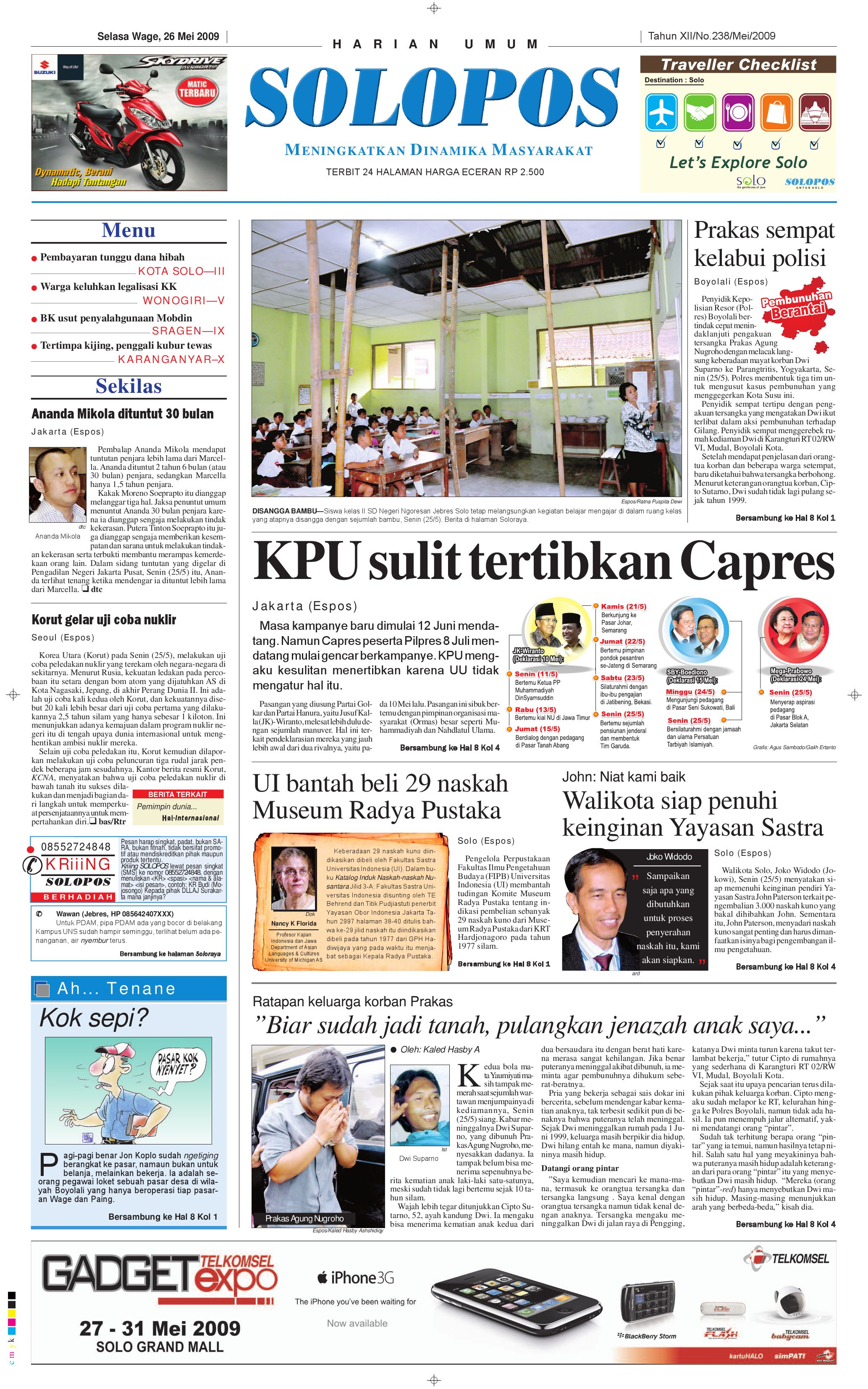 SOLOPOS 26 Mei 2009 By Aksara Solopos PT Issuu