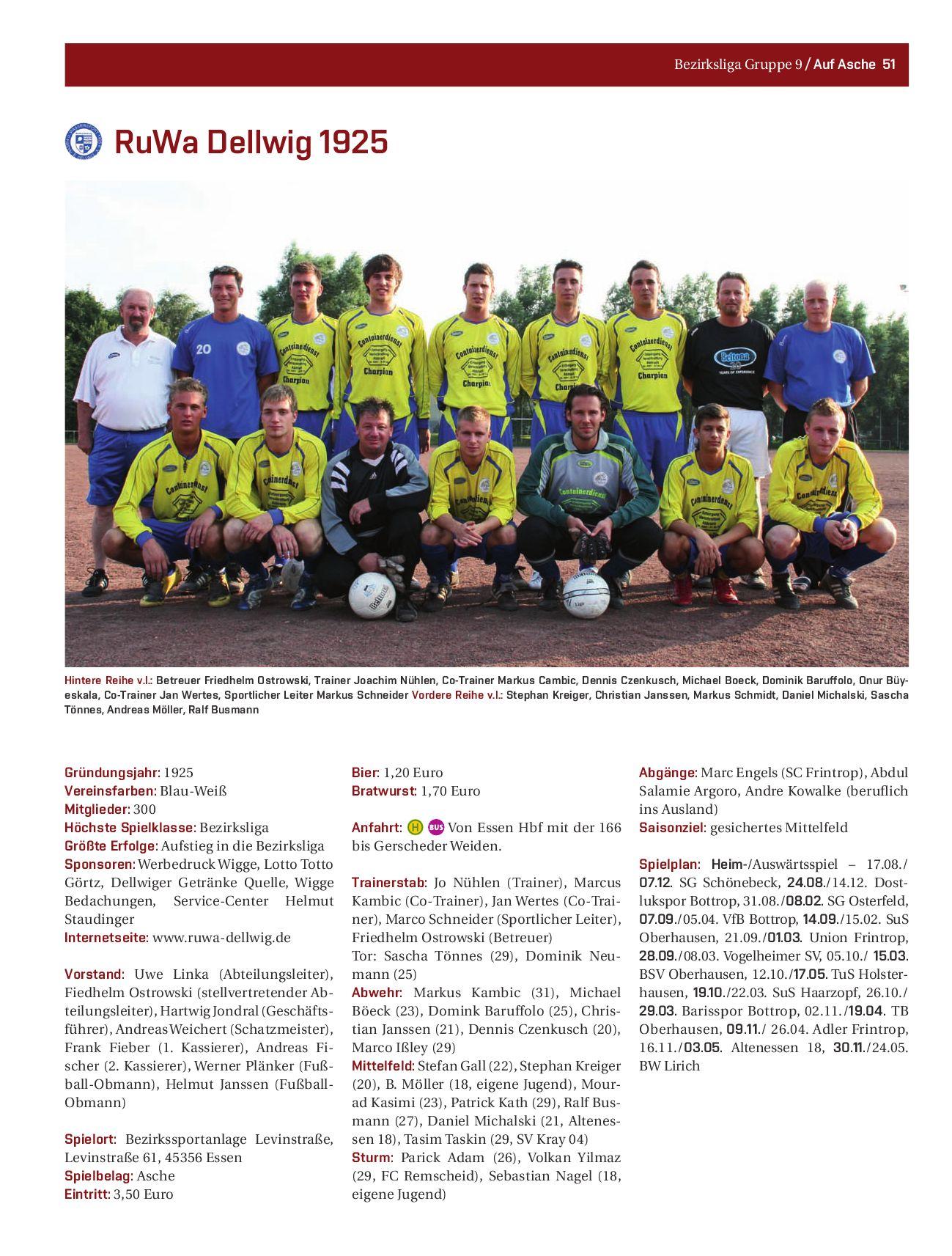 Auf Asche Magazin, Essen Nr. 03, Saisonstart 08/09 by Auf Asche ...