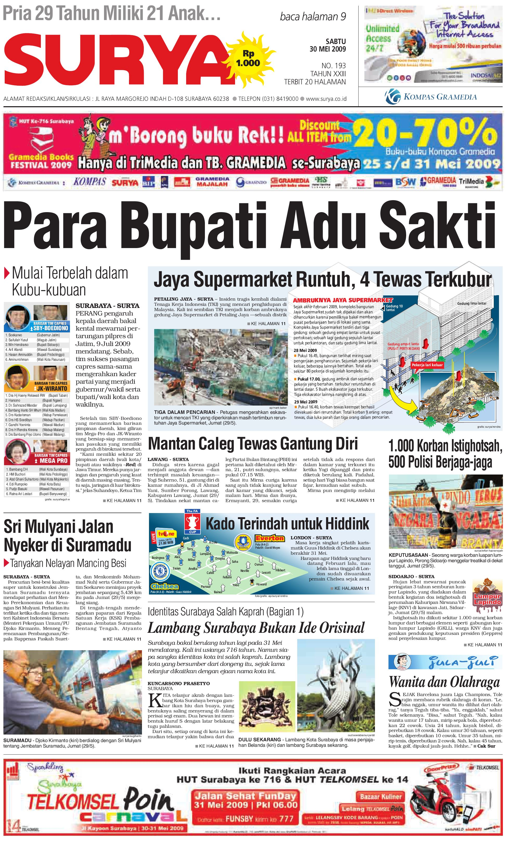 Surya Edisi Cetak 30 Mei 2009 by Harian SURYA - issuu 7149f131b9