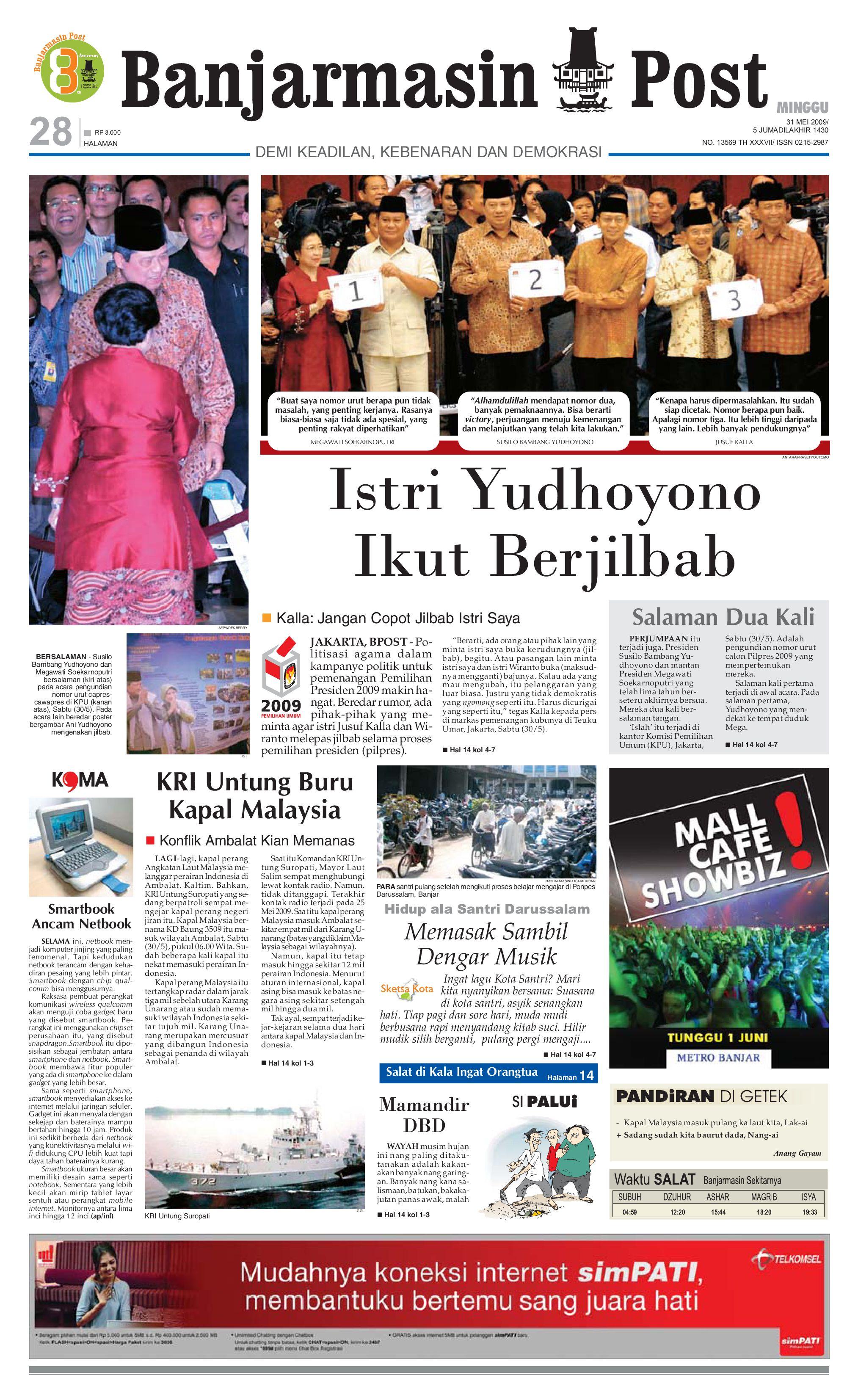 Banjarmasin Post 31 Mei 2009 By Issuu Tcash Vaganza 17 Baselayer Long Pants