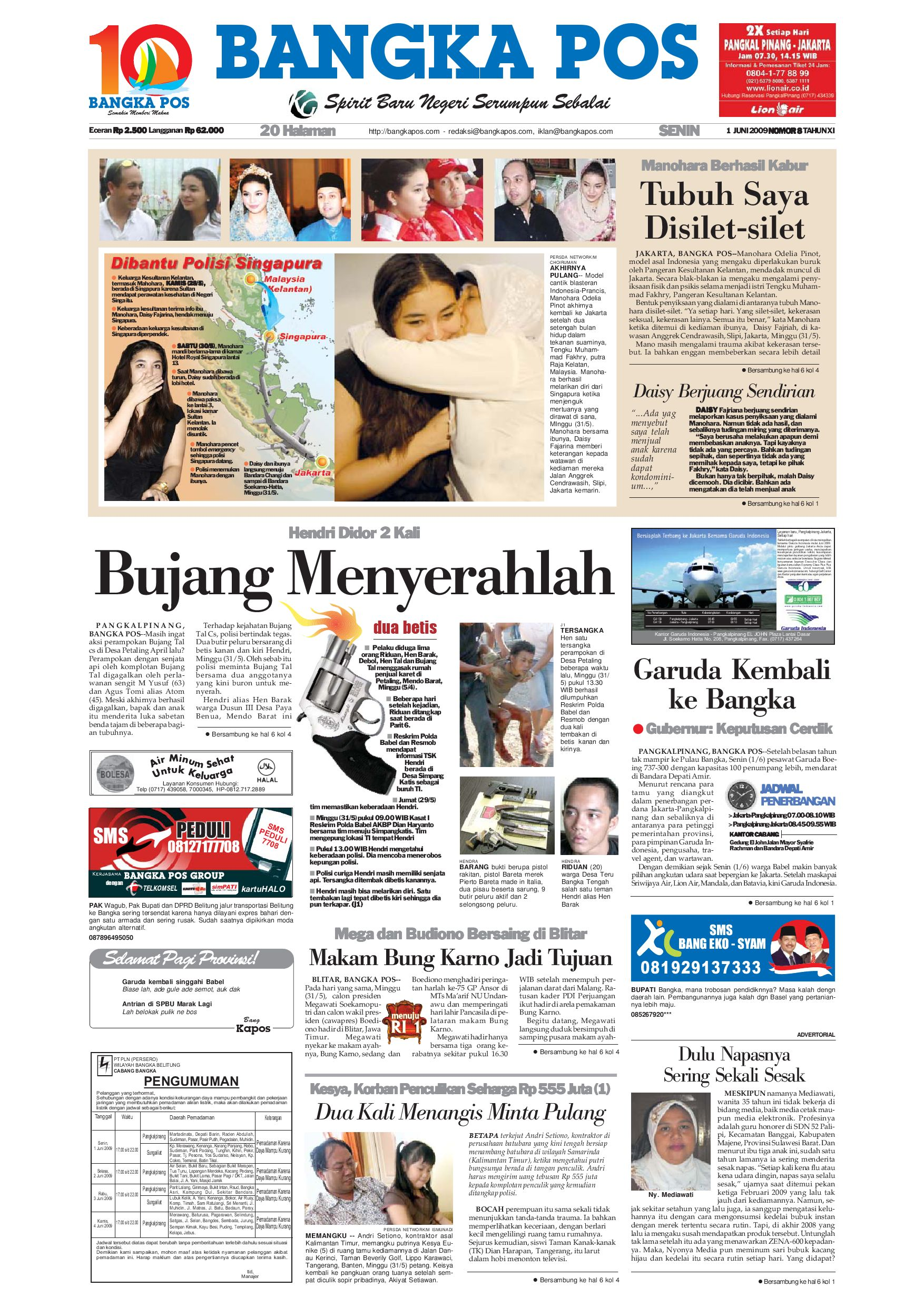 harian pagi bangka pos edisi 09 juni 2009 by bangka pos issuu