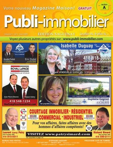 Publi-Immobilier - SAGUENAY - Volume 1 - no 5 - JUIN 2009 by