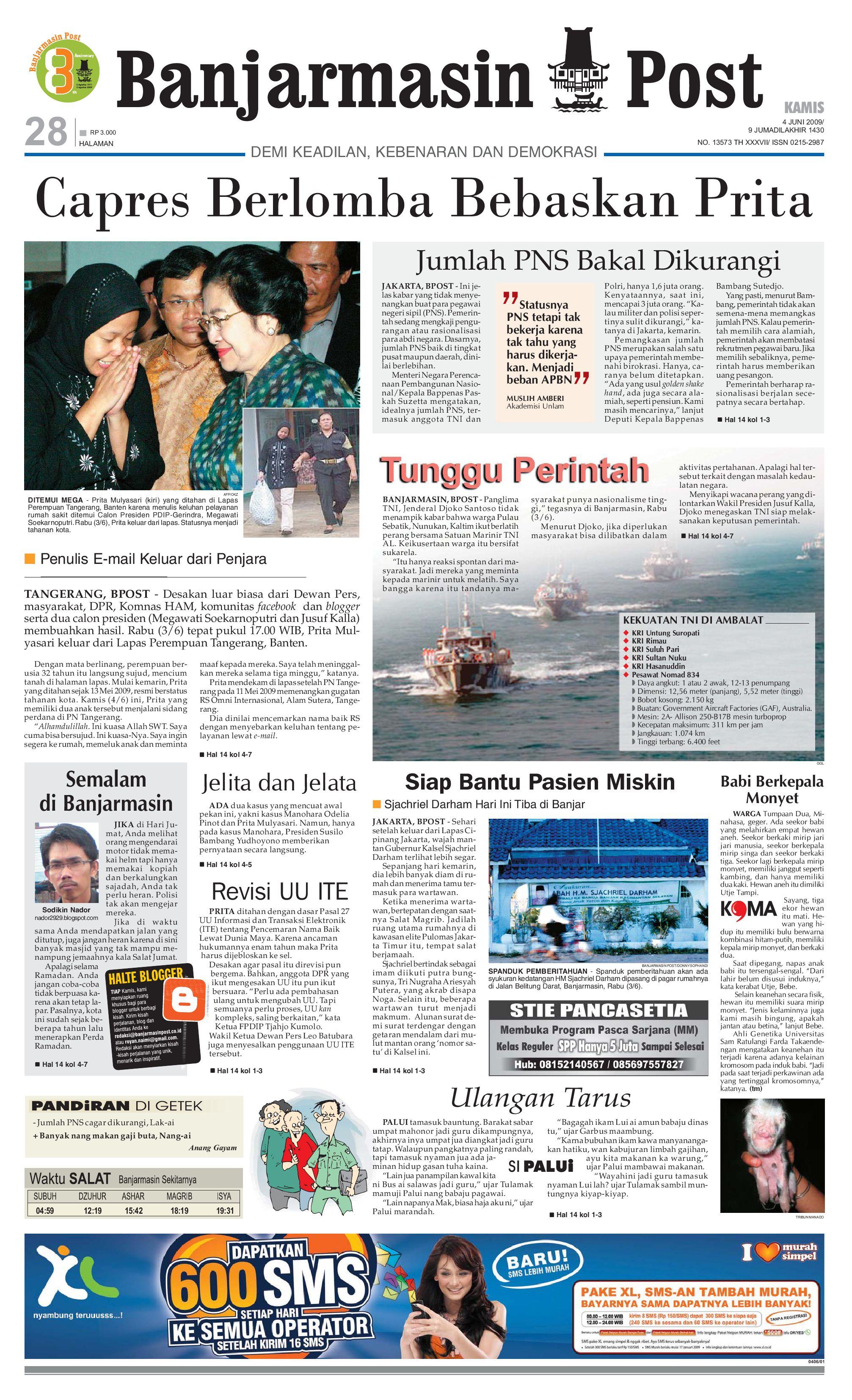Banjarmasin Post - Edisi Kamis 4 Juni 2009 by Banjarmasin Post - issuu 2709f5a363