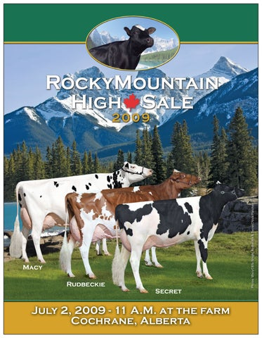 Rocky Mountain High Sale 2009 By Dairy Agenda Today