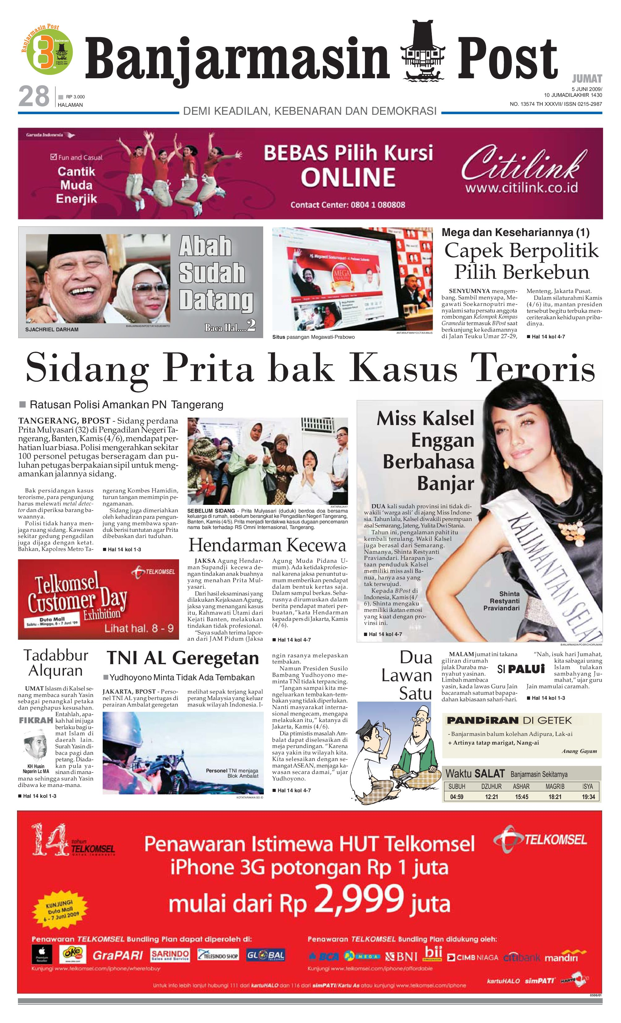 Banjarmasin Post Edisi Jumat 5 Juni 2009 By Issuu Tcash Vaganza 35 Sarung Orange Instan Anak Usia 1 7 Tahun